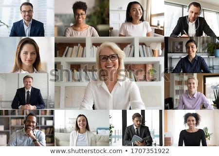 hálózat · csoport · vektor · üzlet · megbeszélés · absztrakt - stock fotó © burakowski