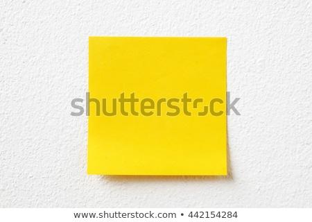 magad · írott · citromsárga · öntapadó · jegyzet · dugó · közlöny - stock fotó © ivelin