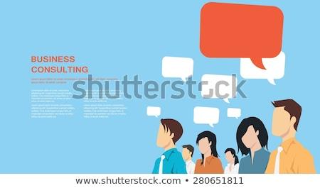 Постоянный из диалог пузырьки вектора бизнеса Сток-фото © burakowski