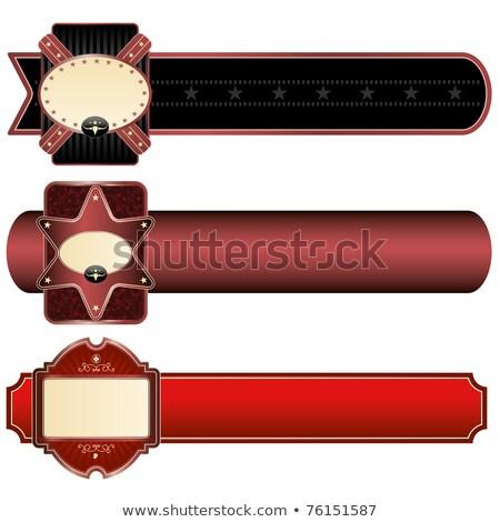 ornate frame with sheriff star Stock photo © kjolak