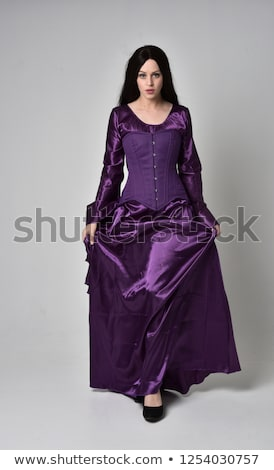 kız · mor · elbise · yalıtılmış · kadın · moda - stok fotoğraf © PavelKozlovsky