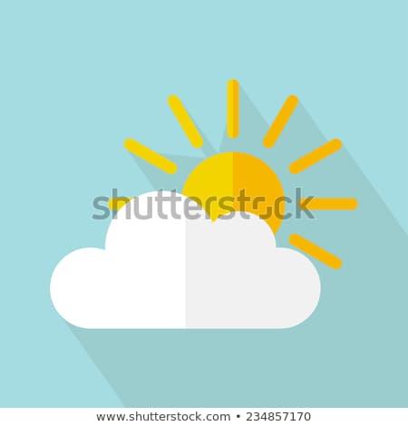 Cloud Application on Yellow in Flat Design. Stock photo © tashatuvango