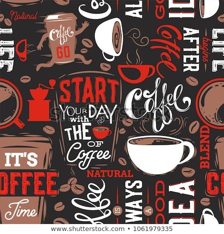 Kahve kâğıt dizayn sanat içmek Stok fotoğraf © khvost