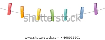 Clothes pins on rope Stock photo © stevanovicigor