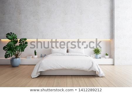 Illuminazione camera da letto isolato bianco design hotel Foto d'archivio © scenery1