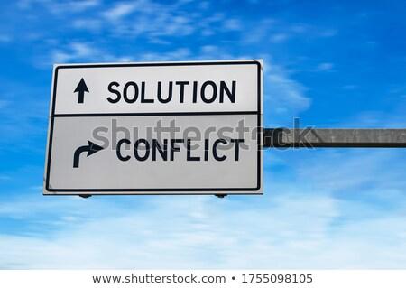 business consulting on highway signpost stock photo © tashatuvango