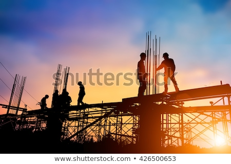 épület építkezés állvány fém állványzat beton Stock fotó © zhekos