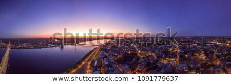 Riga · központi · tér · öreg · házak · Lettország - stock fotó © 5xinc