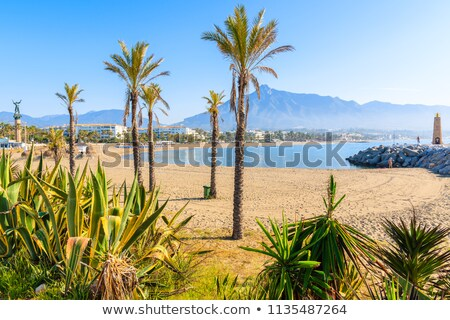 スペイン · マリーナ · 地域 · マラガ · 水 - ストックフォト © nito