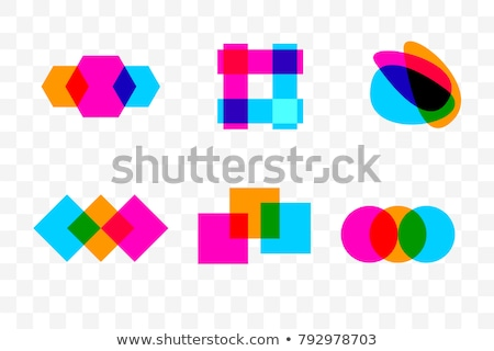 Abstract overlapping colorful square shapes. Stock photo © latent