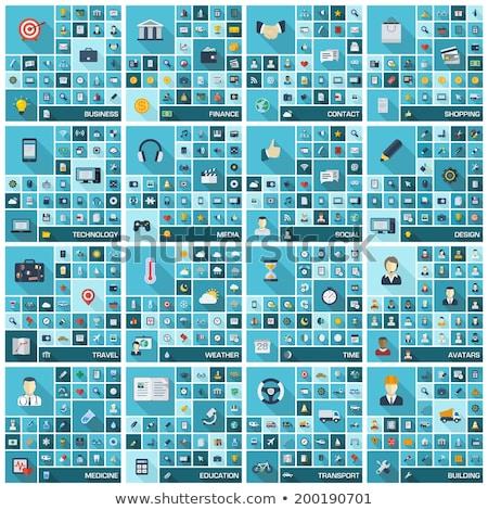 Tıbbi ikon vektör resim yazı eps 10 Stok fotoğraf © RAStudio