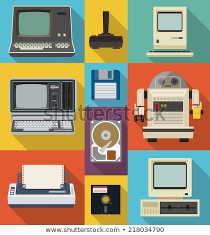 古い コンピュータ 写真 黒 レトロな ソフトウェア ストックフォト © maknt