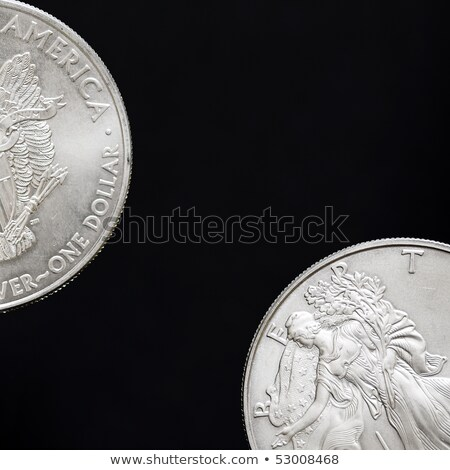 two american coins on a black background stock photo © tashatuvango