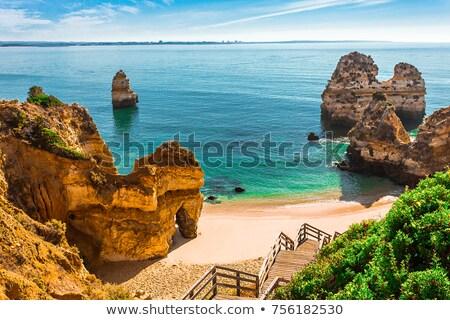 Portogallo spiaggia cielo blu Ocean acqua mare Foto d'archivio © iko