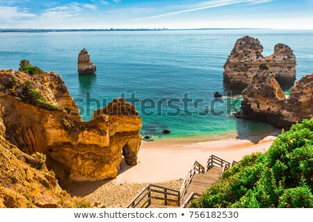 Португалия пляж Blue Sky океана воды морем Сток-фото © iko