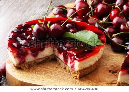 Gyümölcs finom torta cseresznye édes csokoládé Stock fotó © fanfo