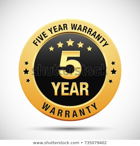 Jahre Garantie golden Vektor Symbol Design Stock foto © rizwanali3d