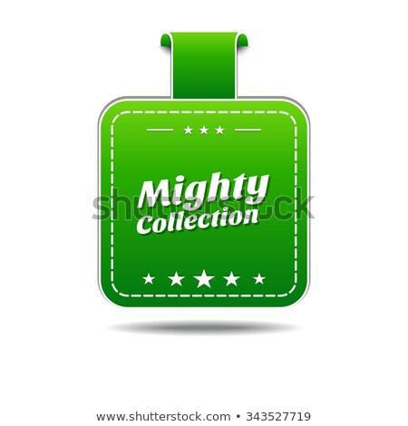 Machtig collectie groene vector icon ontwerp Stockfoto © rizwanali3d