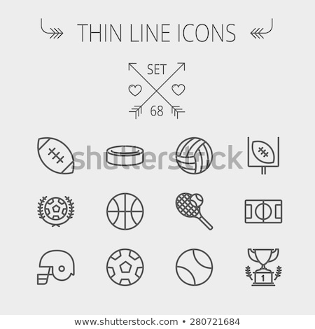 hockey puck thin line icon stock photo © rastudio