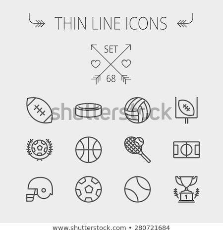 Hockey puck thin line icon Stock photo © RAStudio