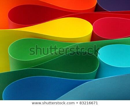 Cor papel variedade abstrato fundo azul Foto stock © razvanphotos