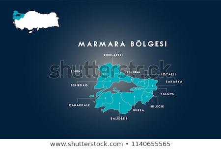 Mapa Turquia fora isolado branco azul Foto stock © Istanbul2009