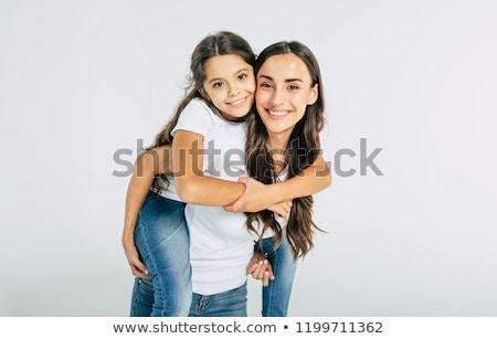 Retrato de família mãe filha branco jovem dois Foto stock © RuslanOmega