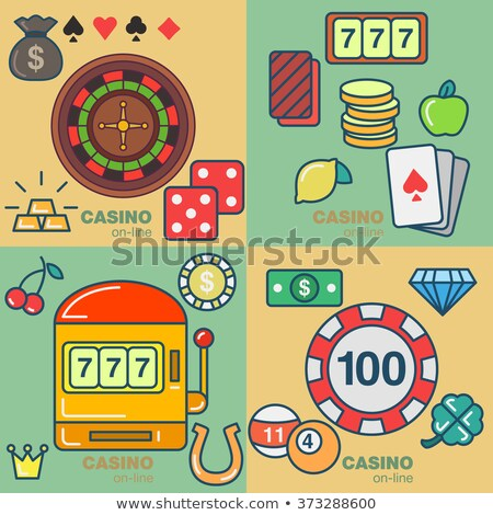 Ruby diamonds poker card, vector illustration Stock photo © carodi