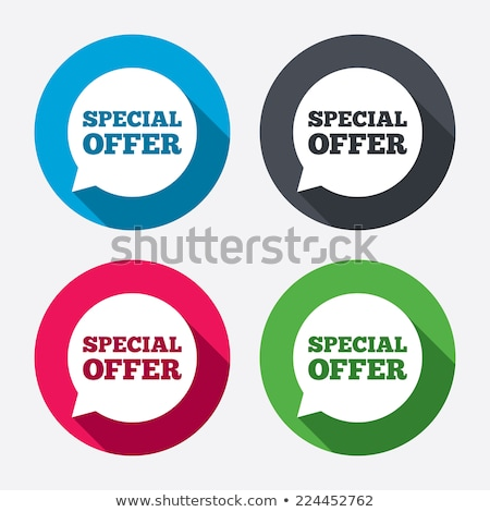 Special Offer Pink Vector Button Icon Stock photo © rizwanali3d