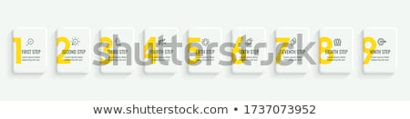 9 Number Yellow Vector Icon Button Stock photo © rizwanali3d