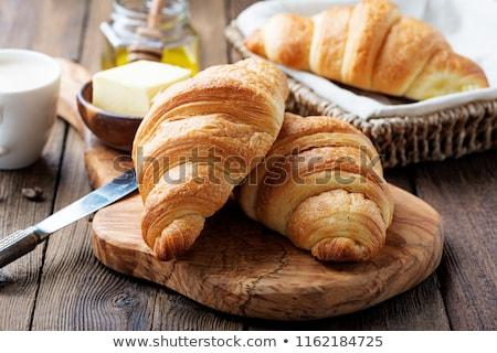 Vers croissants ontbijt frans jam bloem Stockfoto © BarbaraNeveu
