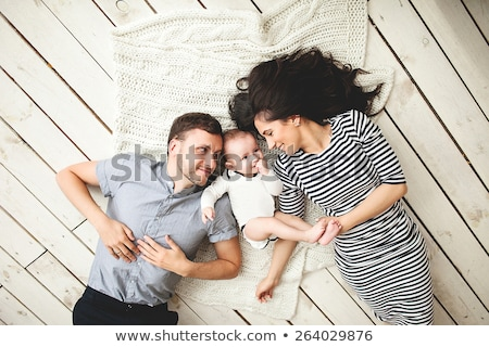 familia · bebé · amor · belleza · madre · azul - foto stock © Paha_L