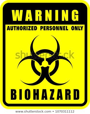 Bioveszély felirat citromsárga vektor ikon terv Stock fotó © rizwanali3d
