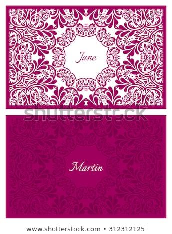 свадьба название карт цветочный орнамент Сток-фото © liliwhite