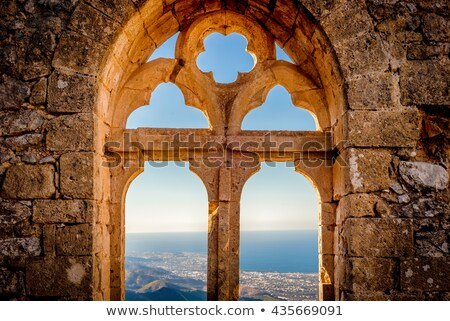 saint hilarion castle queens window kyrenia district cyprus stock photo © kirill_m