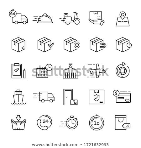 logistique · livraison · icône · cercle · objets · affaires - photo stock © rastudio