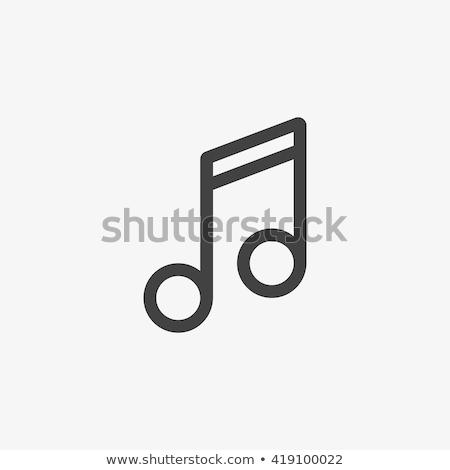 Basszuskulcs vonal ikon háló mobil infografika Stock fotó © RAStudio