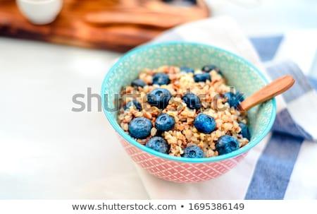 Buckwheat porridge with blueberries Stock photo © Lana_M