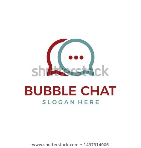 Hálózat chat logotípus vektor művészet illusztráció Stock fotó © vector1st