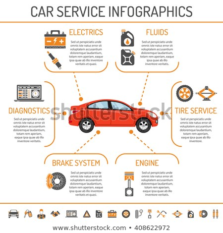 Infographics of a car Stock photo © bluering