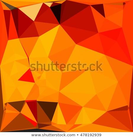 Cadmium Yellow Abstract Low Polygon Background Stock photo © patrimonio