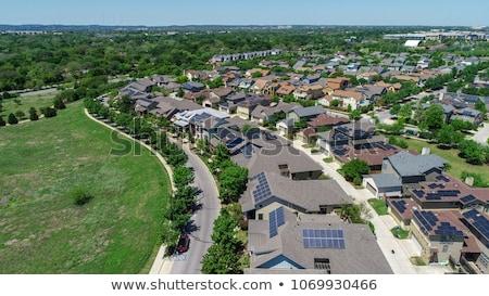 Solar panels and road Stock photo © zurijeta