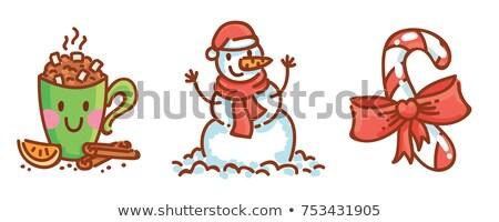снеговик · 3d · визуализации · снега · ночь · смешные - Сток-фото © lightsource