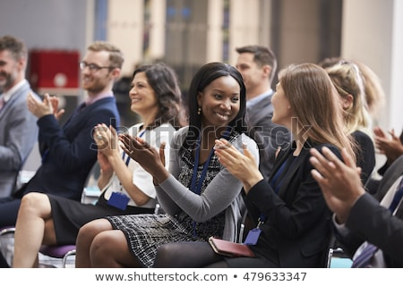 Clapping on conference meeting Stock photo © zurijeta