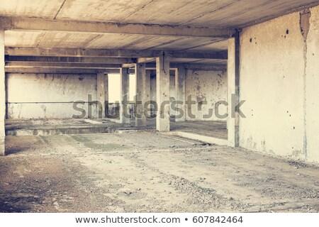 Old abandoned defaulted industrial building Stock photo © Klinker