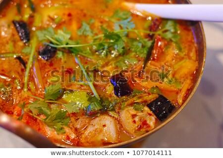 Picante sopa camarão creme refeição Foto stock © M-studio