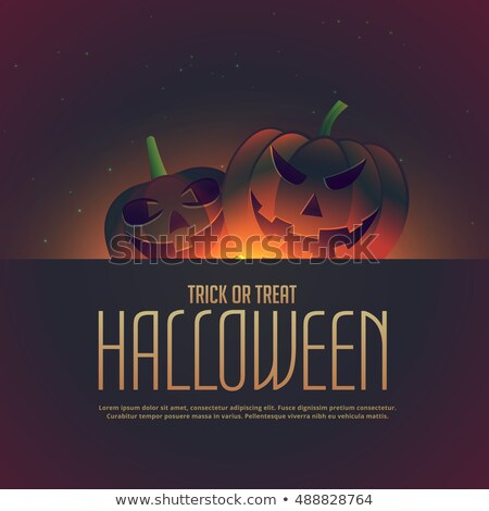 Halloween abóboras feliz cartaz lol celebração Foto stock © SArts