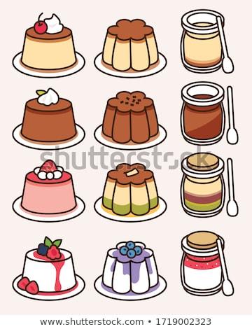 Süt puding çanak gıda kahvaltı yemek Stok fotoğraf © Digifoodstock
