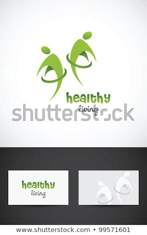 カラフル アイコン シンボル セット 健康食品 ストックフォト © Tefi