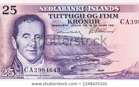 Pond bank merkt groep vijf bankbiljetten Stockfoto © albund